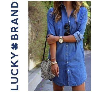 Lucky Brand Chambray Denim Dress